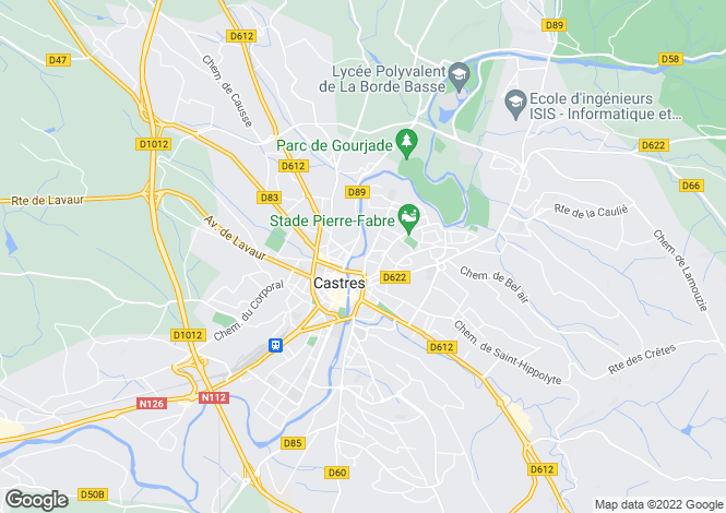 Map for Castres, Tarn