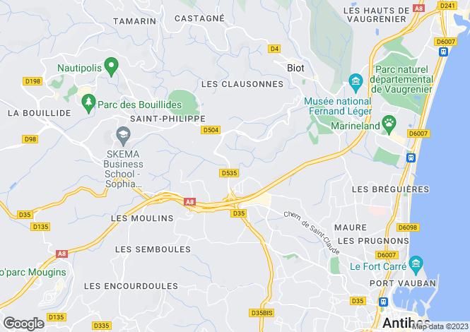 Map for Cagnes-Sur-Mer Haut-De-Cagnes, Provence-Alpes-Cote dAzur, France