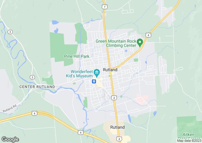 Map for Rutland, Rutland County, Vermont
