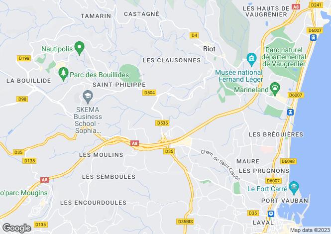 Map for Cagnes-Sur-Mer Haut-De-Cagnes, France