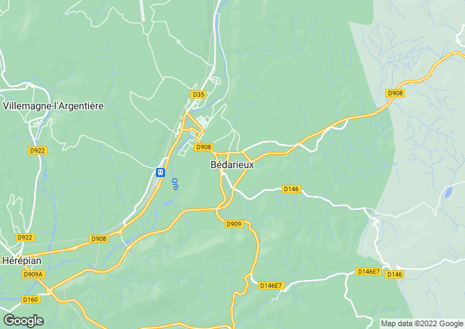 Map for Bedarieux, Languedoc-Roussillon, 34600, France