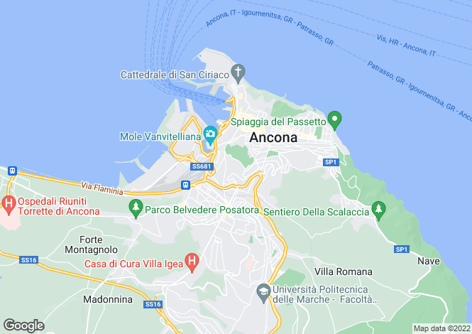 Map for Le Marche, Ancona, Ancona