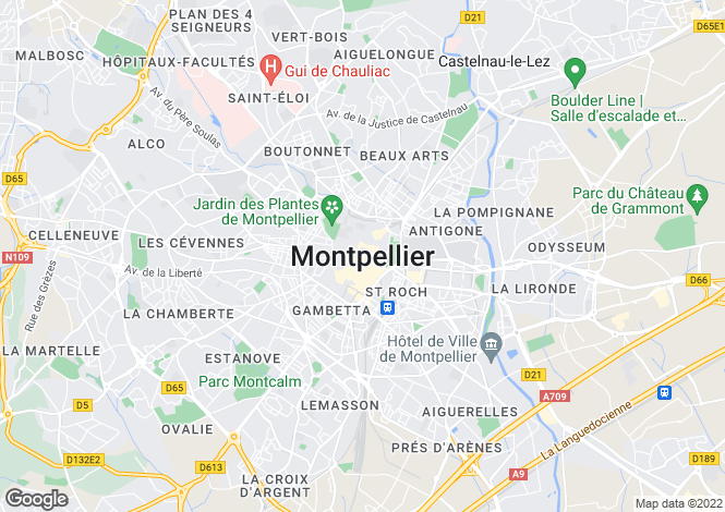 Map for Secteur: Montpellier, Herault