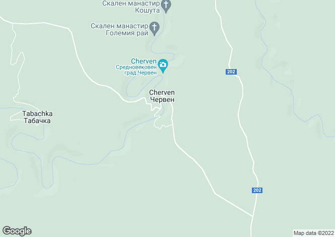 Map for Ruse, Cherven