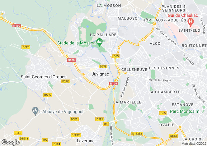 Map for Montpellier, Hérault, Languedoc-Roussillon