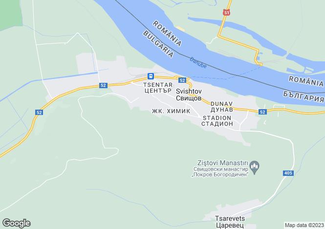 Map for Veliko Tarnovo, Svishtov