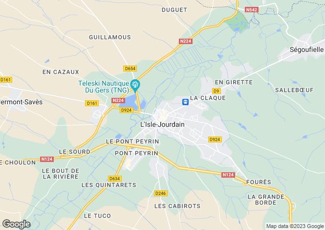 Map for Secteur: L'Isle-Jourdain, Vienne