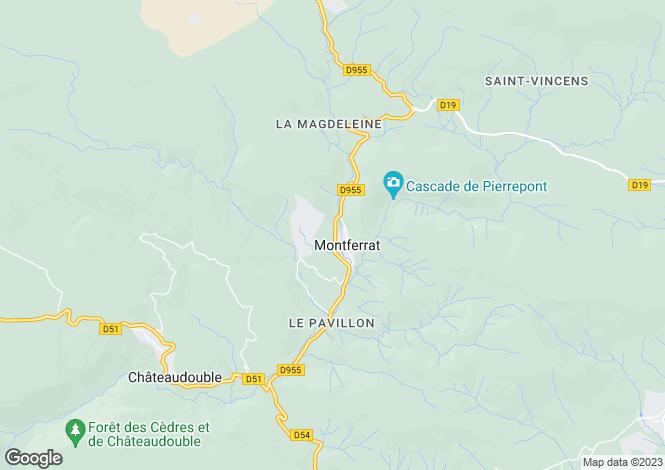Map for montferrat, Var, France