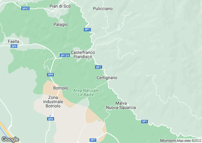 Map for Tuscany, Arezzo, Castelfranco di Sopra