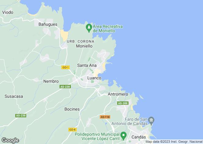 Map for Asturias, Oviedo, Gozon
