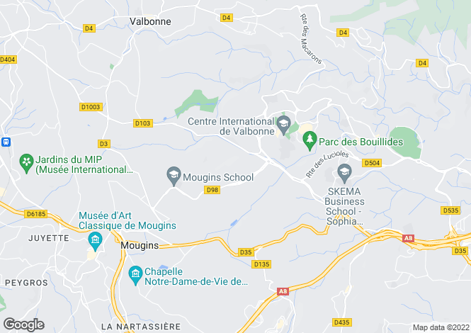 Map for Roquefort-Les-Pins, Provence-Alpes-Cote dAzur, France