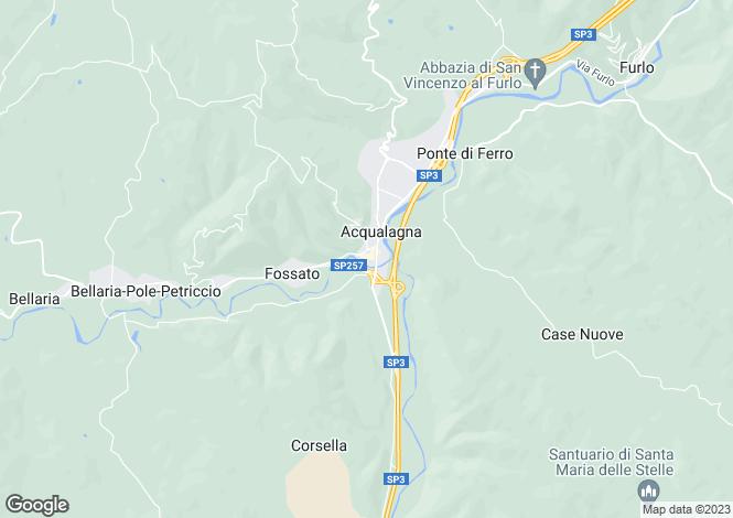 Map for Le Marche, Pesaro e Urbino, Acqualagna