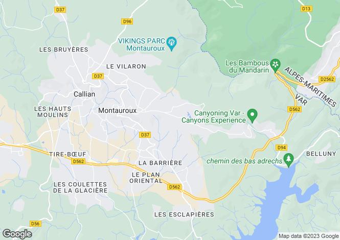 Map for Montauroux, Var, Provence-Alps-Cote d`Azur