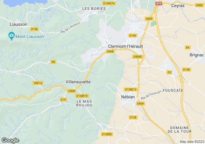 Map for VILLENEUVETTE, Narbonne Area, Languedoc,