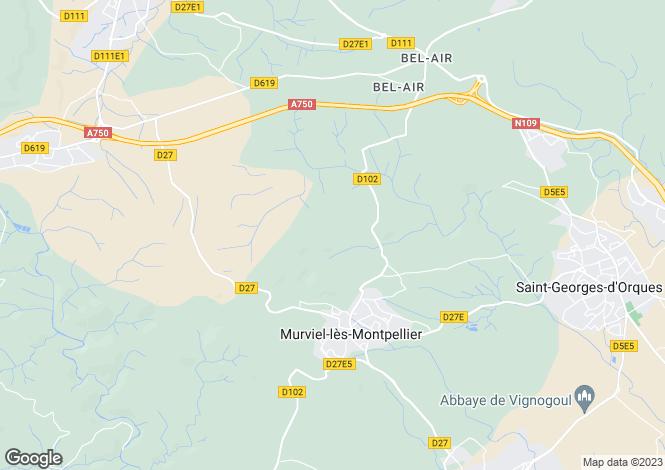 Map for MURVIEL LES MONTPELLIER, Montpellier Area, Languedoc,