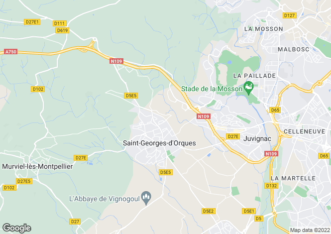 Map for ST GEORGES D ORQUES, Montpellier Area, Languedoc,