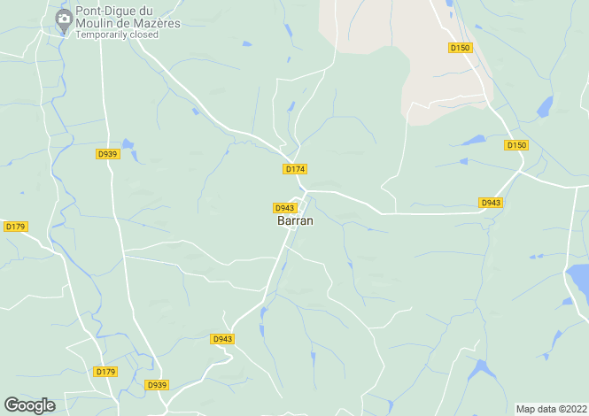 Map for barran, Gers, France