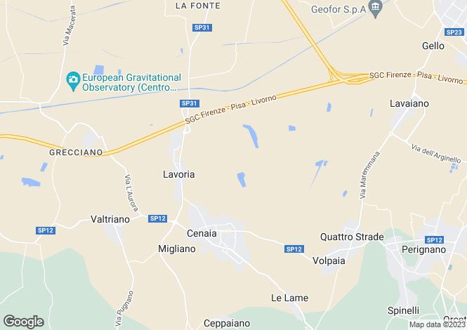 Map for Crespina, Tuscany, Italy