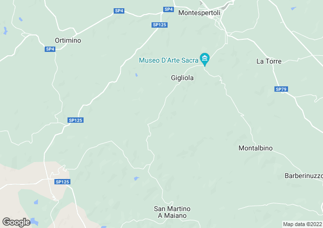 Map for Italy - Tuscany, Florence, Montespertoli