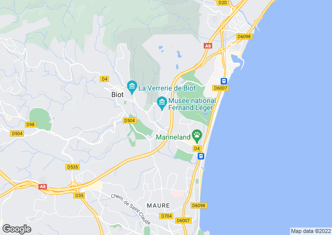 Map for Nice Corniche Fleurie, Provence-Alpes-Cote dAzur, France