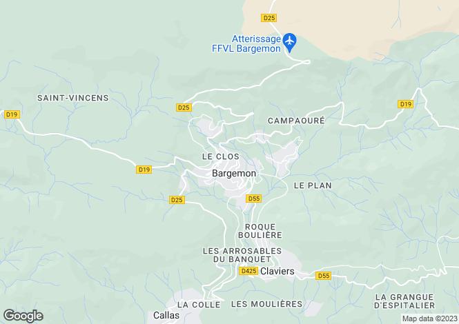 Map for France - Provence-Alps-Cote d`Azur, Var, Bargemon