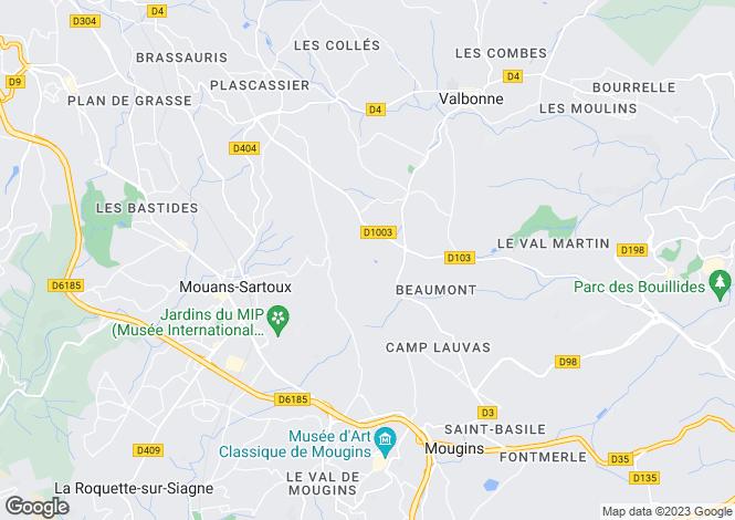 Map for Provence-Alps-Cote d`Azur, Alpes-Maritimes, Mouans-Sartoux