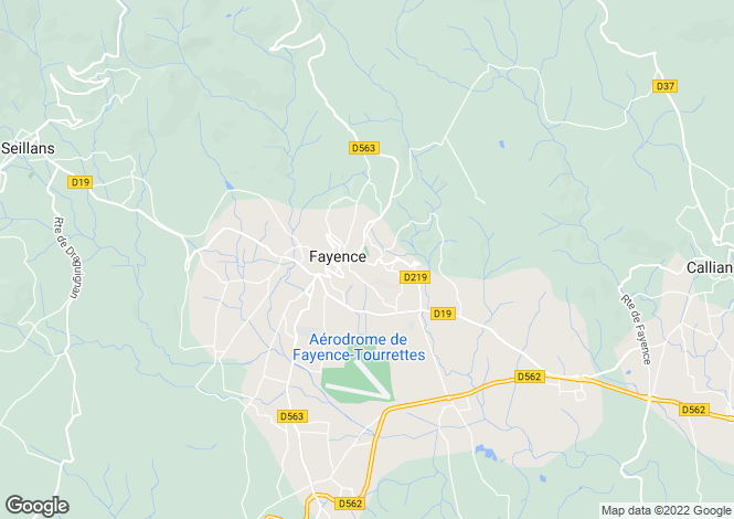 Map for fayence, Var, France