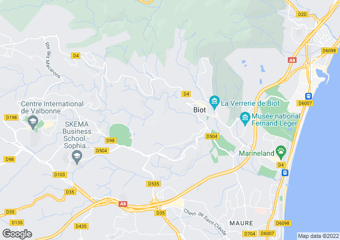 Map for Biot, Biot, French Riviera