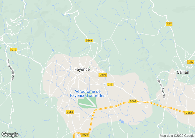 Map for Tourrettes, 83440, France