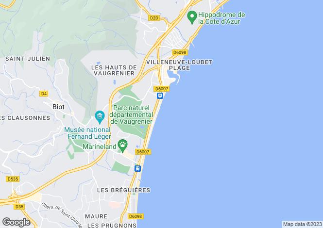Map for Nice Baumettes, Provence-Alpes-Cote dAzur, France