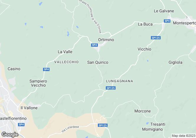 Map for Tuscany, Florence, Montespertoli