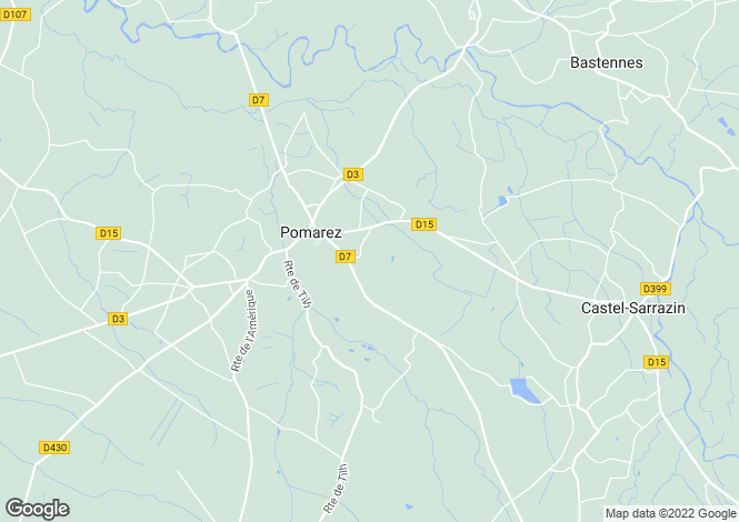 Map for Pomarez, Landes, Aquitaine