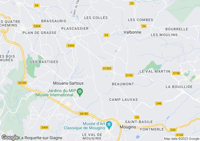Map for Castellaras Le Vieux, Mouans Sartoux, French Riviera