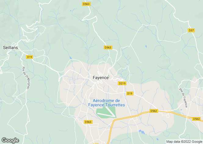 Map for Fayence, Var, Provence-Alps-Cote d`Azur