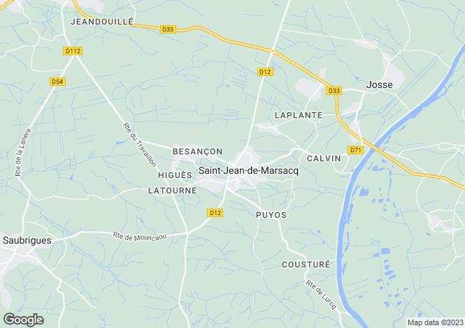 Map for Aquitaine, Landes, St-Jean-de-Marsacq