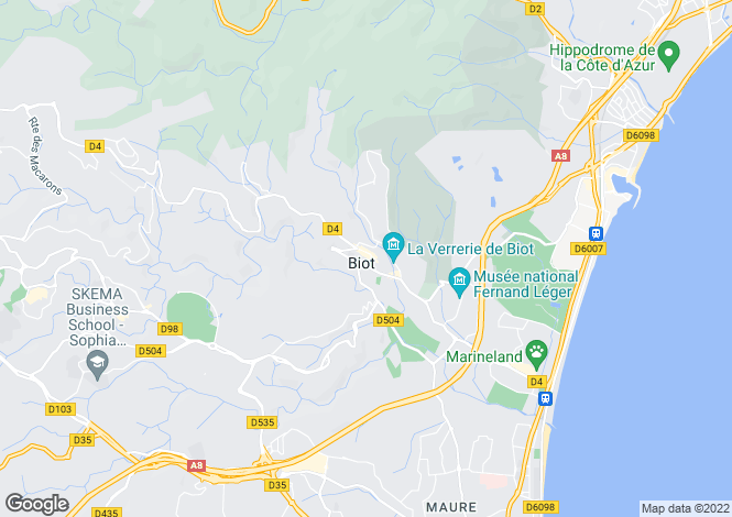 Map for Biot, Alpes-Maritimes, 06410, France