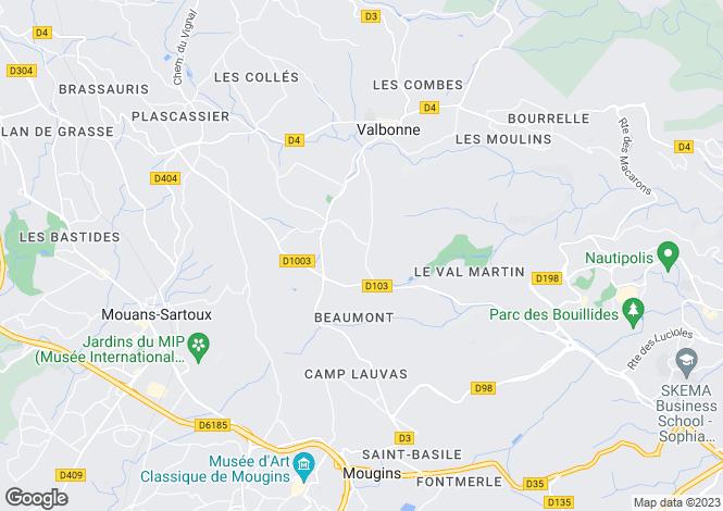 Map for Le Bar-Sur-Loup, France