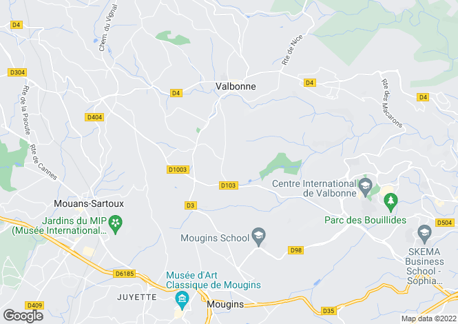 Map for Valbonne, Alpes-Maritimes, 06560, France