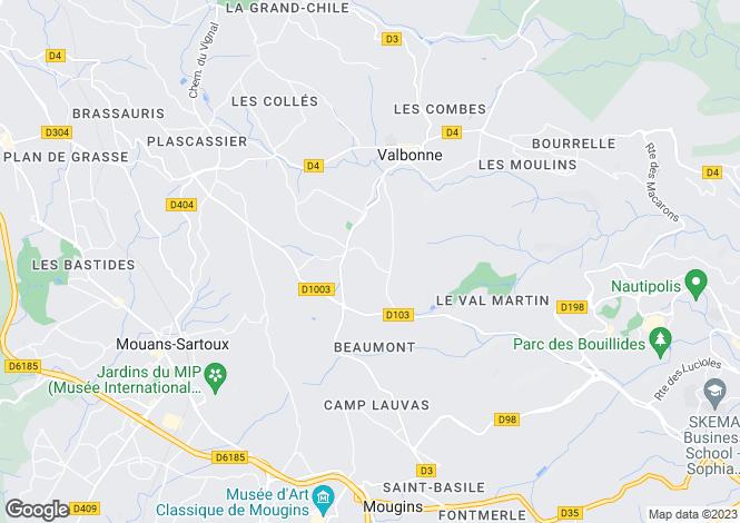 Map for Valbonne, Alpes-Maritimes, Provence-Alps-Cote d`Azur