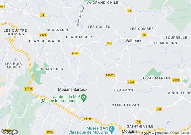 Map for Castellaras, Mouans-Sartoux