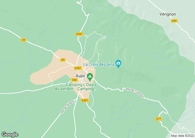 Map for Aups, 83630, France