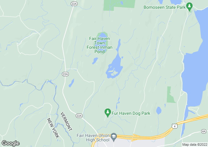 Map for USA - Vermont, Rutland County, Fair Haven