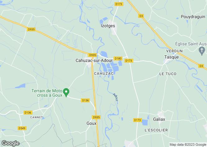 Map for cahuzac-sur-adour, Gers, France