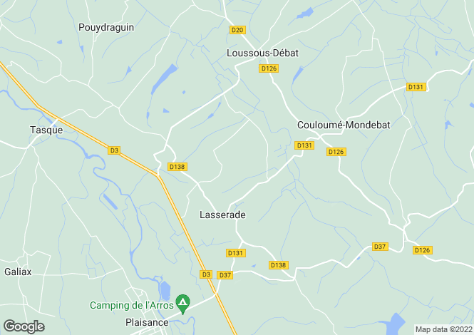 Map for lasserade, Gers, France