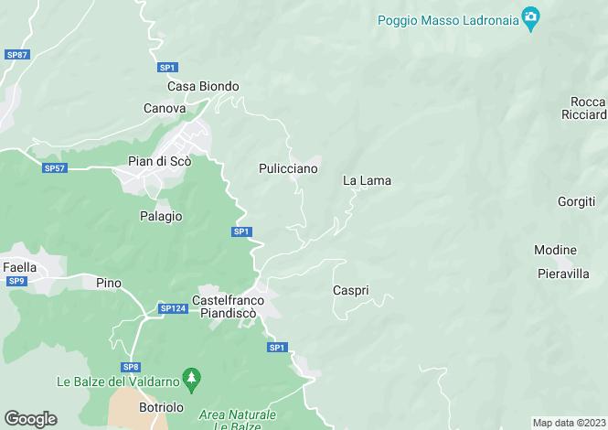 Map for Tuscany, Arezzo, Castelfranco di Sopra