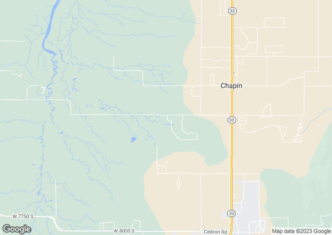 Map for Idaho, Teton County, Victor
