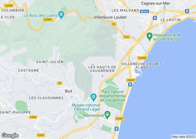 Map for Les Hauts de Vaugrenier, Villeneuve-Loubet, French Riviera
