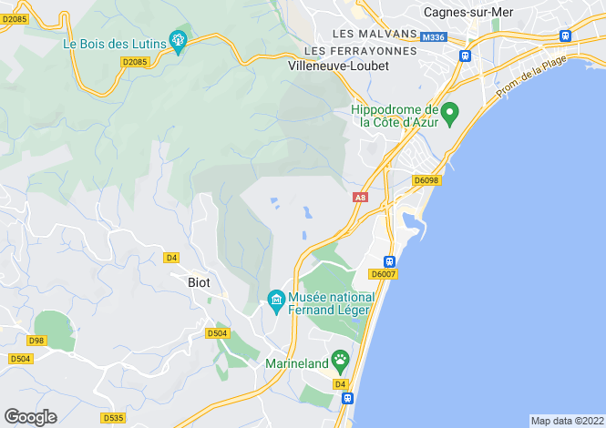 Map for Villeneuve Loubet, Les Hauts de Vaugrenier, French Riviera