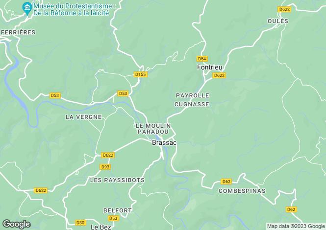 Map for brassac, Tarn, France