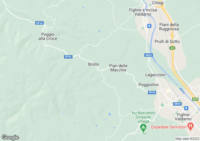 Map for Italy - Tuscany, Florence, Figline Valdarno